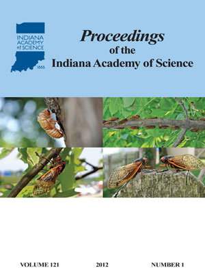 Proceedings of the Indiana Academy of Science 121:1 2012