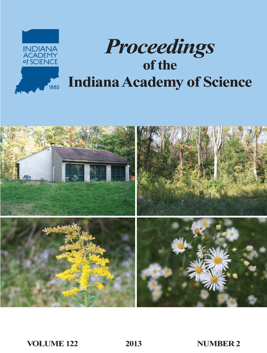 Proceedings of the Indiana Academy of Science 122:2 2013