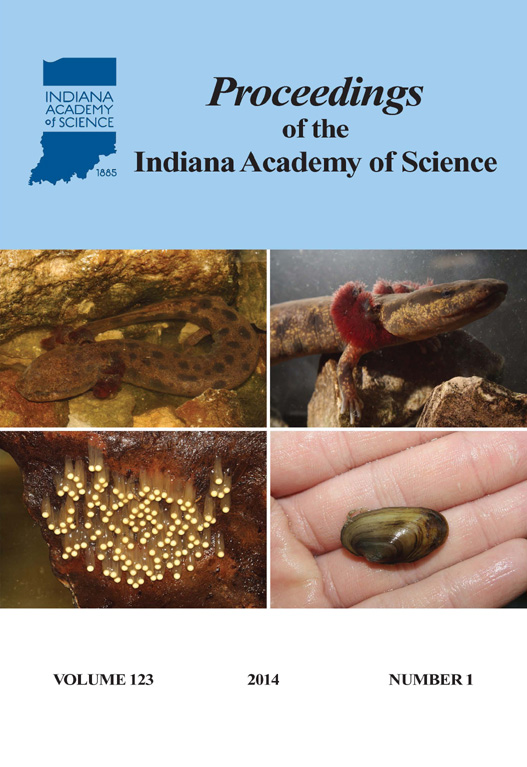 Proceedings of the Indiana Academy of Science 123:1 2014