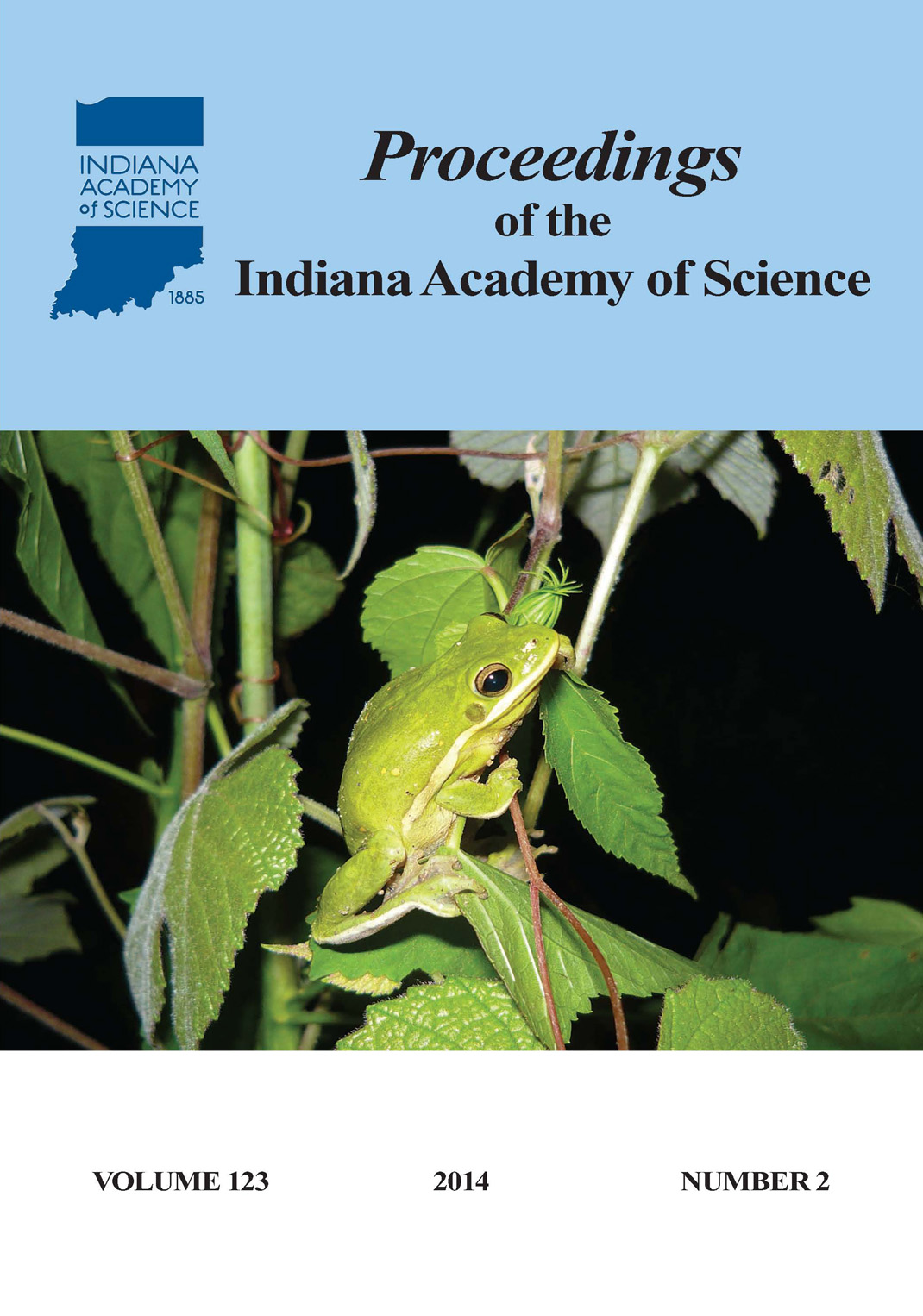 Proceedings of the Indiana Academy of Science 123:2 2014