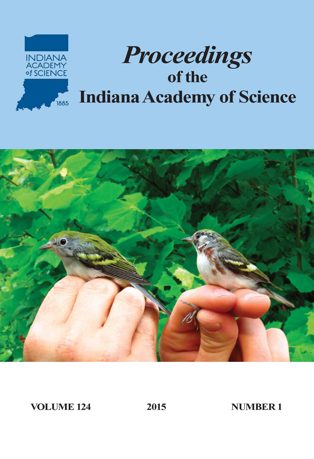 Proceedings of the Indiana Academy of Science 124:1 2015